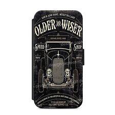 Hot Rods Factory Vintage Retro Car Wallet Flip phone Case Cover iPhone & Samsung