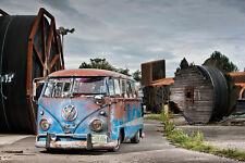 Canvas Wall Art Photo Print VW Classic Vintage Car Bus Camper Volkswagen VWH12