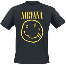T-shirt Alternative Rock Nirvana Smile Originale maglietta nera idea regalo