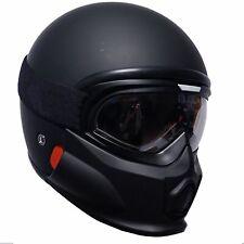 VIPER RS07 Trooper Motorcycle Motorbike Helmet Fiberglass Matt Black with Goggle
