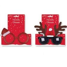 Navidad plástico gafas Reno o Gorro de Papá Noel Gafas Accesorio de disfraz