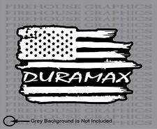 Duramax Chevy Chevrolet Silverado American flag diesel sticker decal