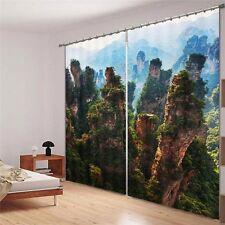 Finger Mountains 3D Blockout Photo Curtain Print Curtains Drape Fabric Window