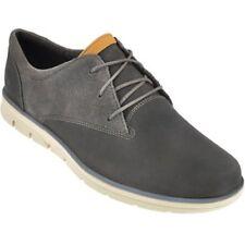 Timberland Men`s A15QQ EK Bradstreet Oxford Black-Grey Leather with Nubuk