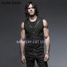 New PUNK RAVE Rock Goth Heavy Metal Black Shirt Top T-422 ALL STOCK IN AUSTRALIA