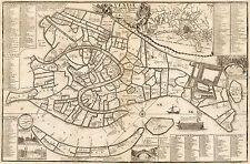 1695 Venice Italy Map Venezia Venise Vintage Nicolas De Fer Wall Poster School