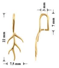 Argento Sterling Placcato Oro 22x7.5mm Pinch Ciondoli per Ciondoli * gioielli risultati