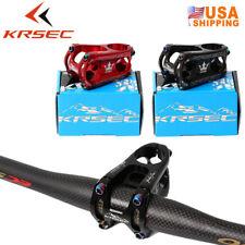 KRSEC 28.6*31.8*50mm MTB/XC Bike Short Stem Titanium-plated Screw Handlebar Stem