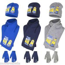 Minions Set cappello sciarpa guanti CATTIVISSIMO ME bimbo bambino cuffia 52,54