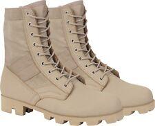 "Desert Tan Panama Sole Combat Boots Military 8"" Tactical Jungle Boots"
