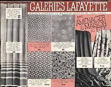 """CATALOGUE """" DES GALERIES LAFAYETTE"""" 1919"""