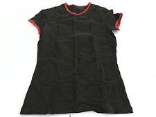 HOM manga corta camiseta negro perfiles rojo mod CORREDOR WH02 67% algodón