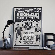 Sonny Liston Vs Clay Muhammad Ali Promo Bill Boxing Poster Print Picture A3 A4
