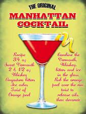 Il Manhattan Cocktail,Pub,Bar & Ristoranti Minuteria Metallica/Targa In Metallo,