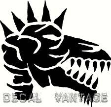 Punk Dragon Skull Vinyl Sticker Decal Spikes - Choose Size & Color