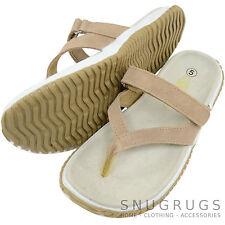 Mujer / Mujer Cuero Auténtico Ante verano/Vacaciones/SANDALIAS PLAYERAS/Zapatos
