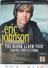 ERIC JOHNSON 2005 SINGAPORE CONCERT TOUR POSTER - GUITAR LEGEND, G3
