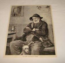 1886 magazine engraving ~ POST HASTE, by F. G. Cotman