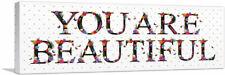 ARTCANVAS YOU ARE BEAUTIFUL Girls Room Decor Canvas Art Print