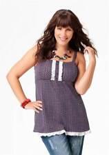 Amy Jones Marken-Top mit Spitze blau-weiß-rot 568.787