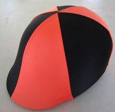 Horse Helmet Cover ALL AUSTRALIAN MADE Orange & Black Any size you need