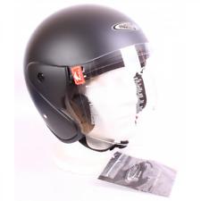 CYBER CON PANTALLA Casco Abierto Open face Helmet HOMOLOGADO CYBER Black Matt Ne
