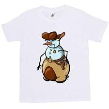 Cowboy Sheriff Snowman With Sheriff Badge Kids Boys / Girls T-Shirt