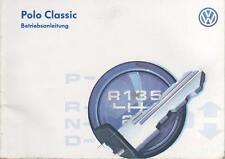 VW POLO CLASSIC 3 Betriebsanleitung 1996 Bedienungsanleitung Handbuch  BA
