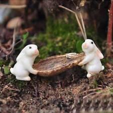 Cute Rabbits Animal Miniature Fairy Garden Moss Micro Landscape Ornament Decor