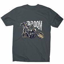 Motorbike witch - men's funny premium t-shirt