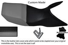 GREY & BLACK CUSTOM FITS YAMAHA TDM 850 3VD 91-95 REAL LEATHER DUAL SEAT COVER