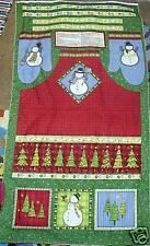 Debbie Mumm Top Hat Snowman Winter Christmas Apron Fabric Panel Sew