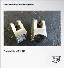 Glashalter EDELSTAHL Glasklemme Klemmhalter V2A Glasklemmhalter Massiv