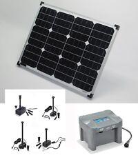 50 W Pompe solaire batterie de bassin d'IMMERSION D'étang jardin LED