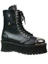 Demonia Boots Gravedigger GRAD10 Metall Stahlkappe Springerstiefel Stiefel  5010