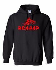 BRAAAP Hoodie Sweatshirt Ski-Doo Arctic Cat Polaris Yamaha red snowmobile To 5X!