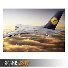 Airbus A380 lufthansa (AA023) avion affiche-poster print art A0 A1 A2 A3