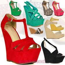 Damenschuhe KEILE pumps plateau absatzschuhe neu sandalen holzschuhe OUTLET