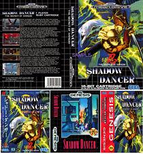 Shadow dancer sega megadrive genesis pal & ntsc remplacement box art case insert