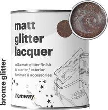 Hemway Bronze Glitter Matt Varnish Lacquer Interior Exterior Weather Proof