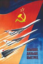Vintage ère soviétique aeroflot russian airline poster A3 print