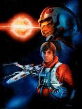 Exploding Death Star X-Wing Rebel Pilot Luke Skywalker Star Wars Tribute Art