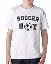 Soccer Boy Shirt Youth T-Shirt Team Goal Football Birthday Gift Idea Present Tee