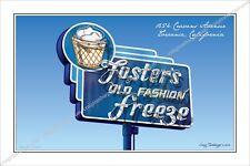 Neon Sign,Neon,sign,art,Foster's,Freeze,Route 66,Travel,roadside,nostalgia,Motel
