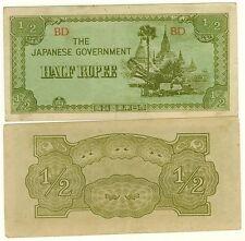 BIRMANIA billete militar 1/2 RUPPEE Pick8 OCUPACIÓN JAPÓN SEGUNDA GUERRA MUNDIAL