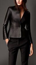 New Women's Real Lambskin Leather Blazer Hot Slim fit Jacket Designer Coat KW38