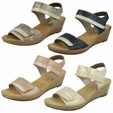 Ladies Rieker 62470 Synthetic Wedge Sandals