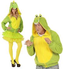 Krokodil Fleecejacke mit Kapuze Krokodilkostüm Kostüm Verkleidung Fleecekostüm