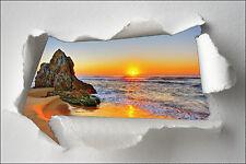 Adhesivo Trampantojo l'ojo papel desgarrado decoración Marisco acostado del sol