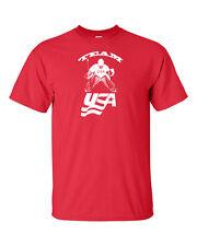 TEAM USA Hockey Olympics Winter Sochi Men's Tee Shirt 756